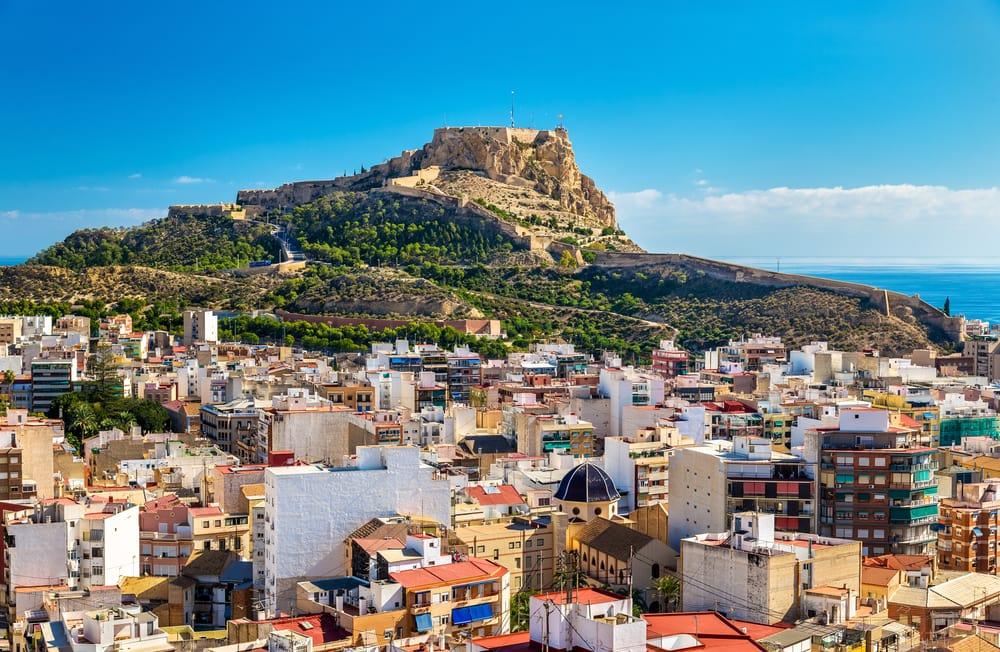 Santa Barbare slottet - Alicante i Spanien