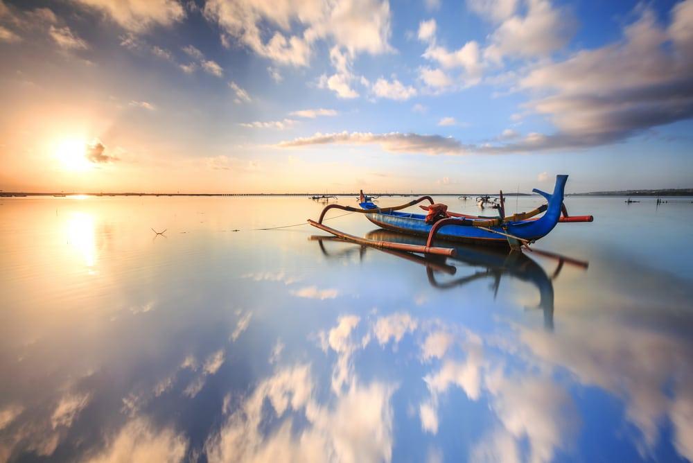 Sanur stranden - Bali i Indonesien