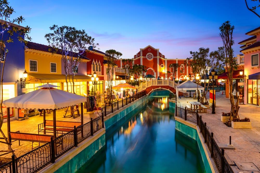 Shoppingområde i Hua Hin - Thailand