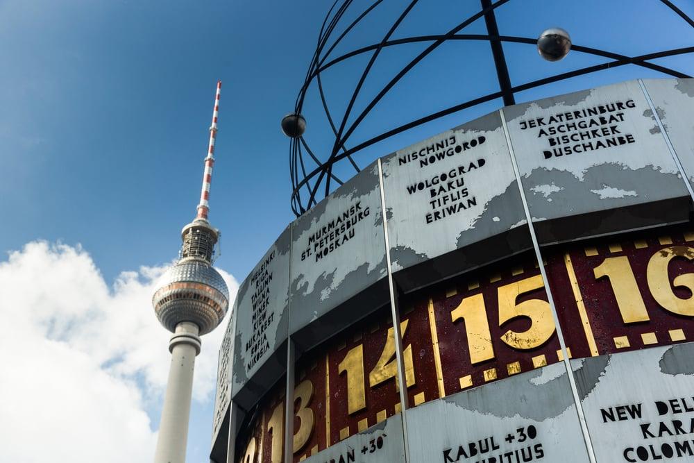 Verdensuret på Alexander Platz - Berlin i Tyskland