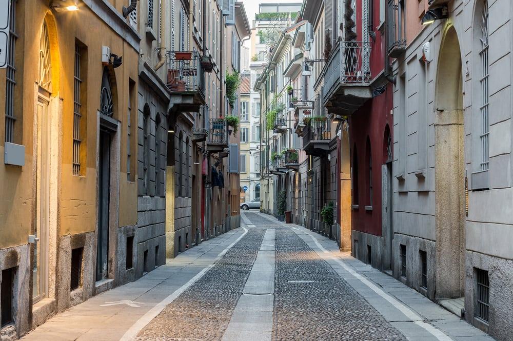 Brera kvarteret - Milano i Italien