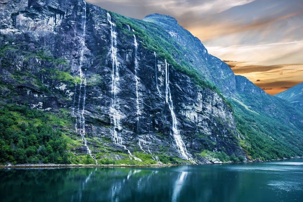 Geiranger Fjord i Norge