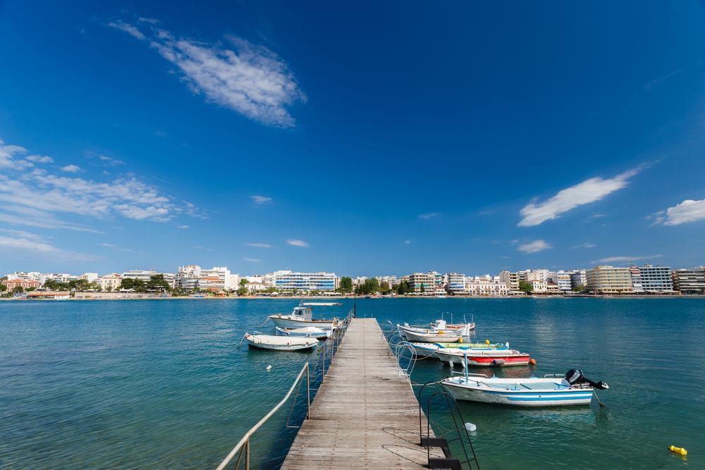 Havnen i Chalkida - Evia i Grækenland