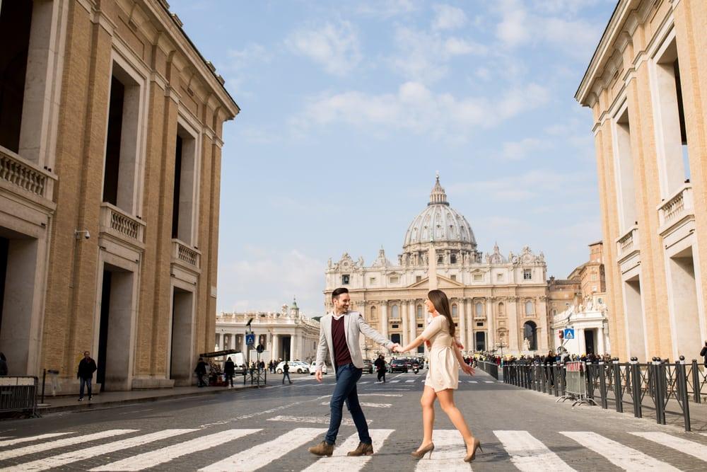 Kærestepar - Rom i Italien