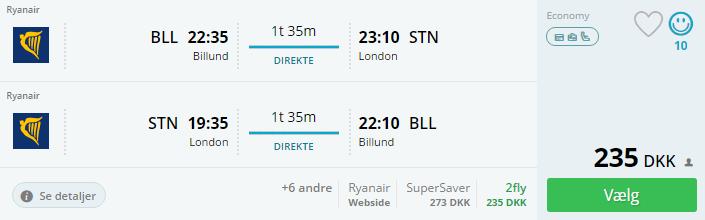 Flybilletter til London