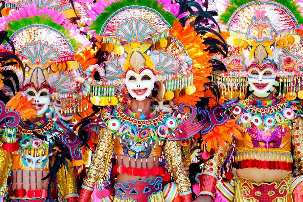 Maskeradefestival på Filippinerne
