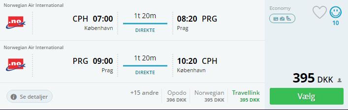 Billige flybilletter til Prag i Tjekkiet