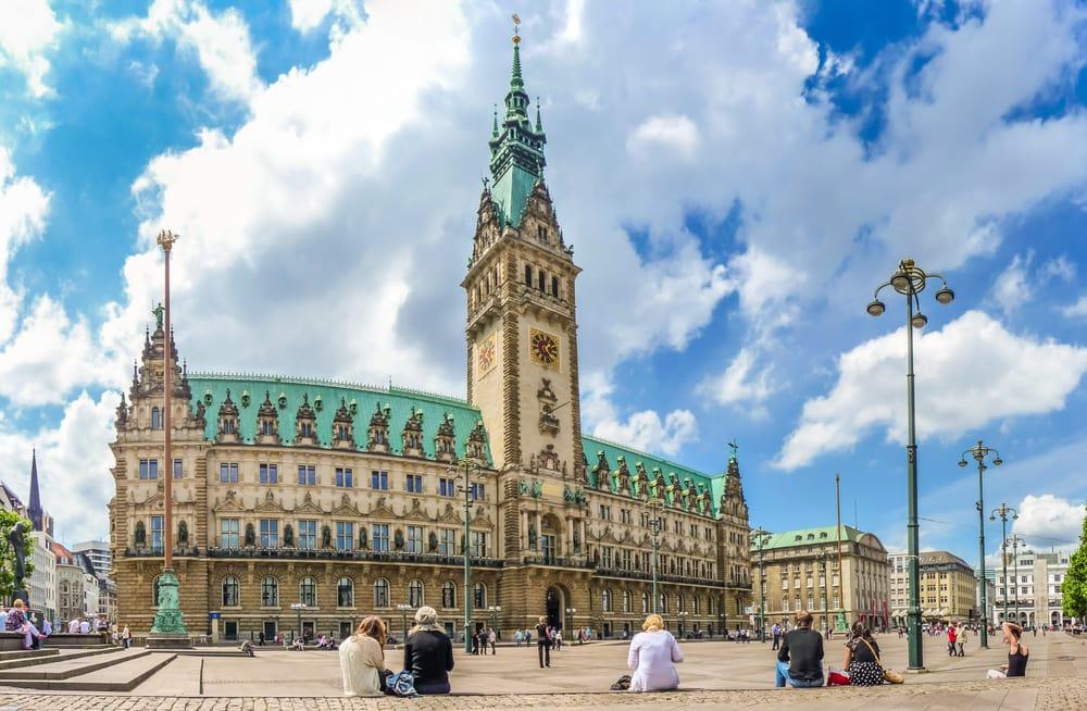 Rådhuset i Hamborg - Tyskland