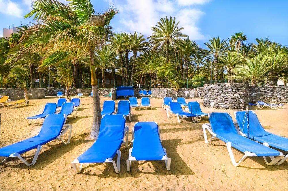 Strand ved San Agustin - Gran Canaria i Spanien