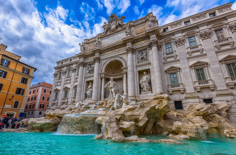 Trevifontænen - Rom i Italien