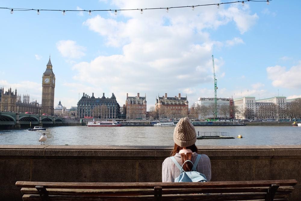 Udsigt over Themsen - London i England