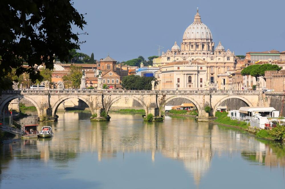 Udsigt til Vatikanstaten - Rom i Italien
