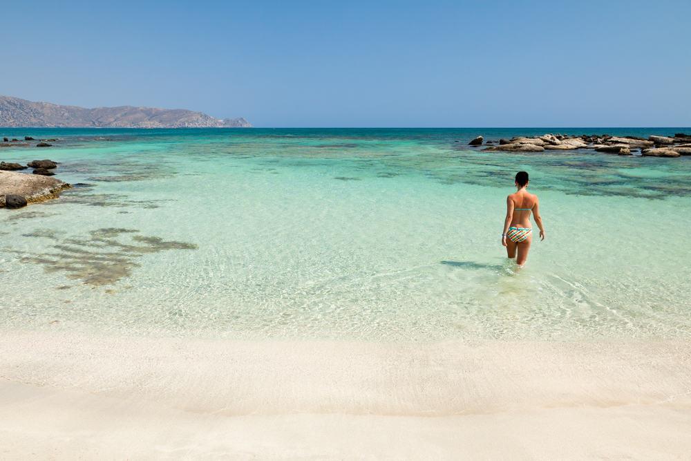 Elafonisi stranden - Kreta i Grækenland