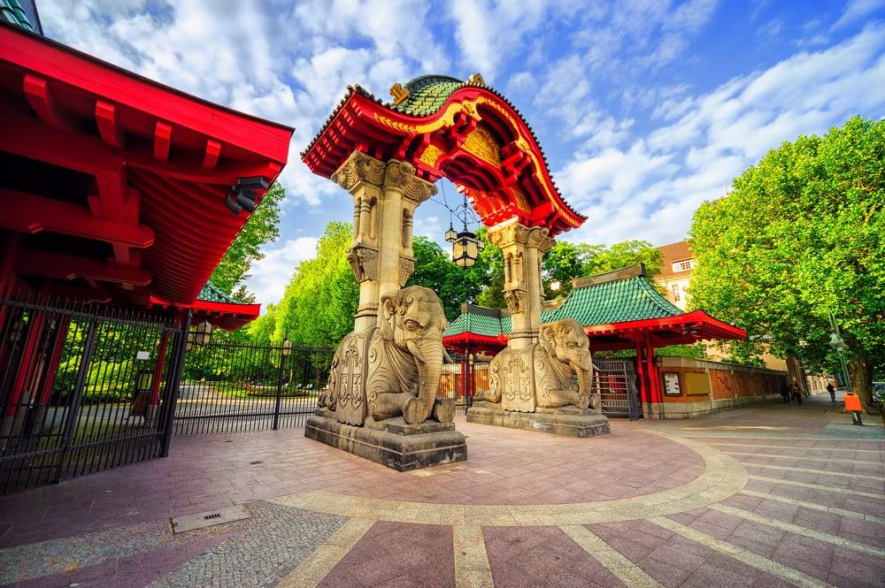 Indgang til Berlins zoologiske have - Tyskland