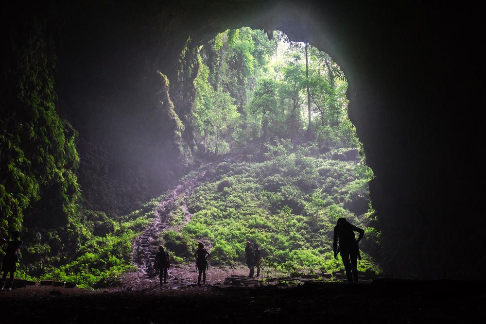 Jomblang grotterne - Goa i Indien