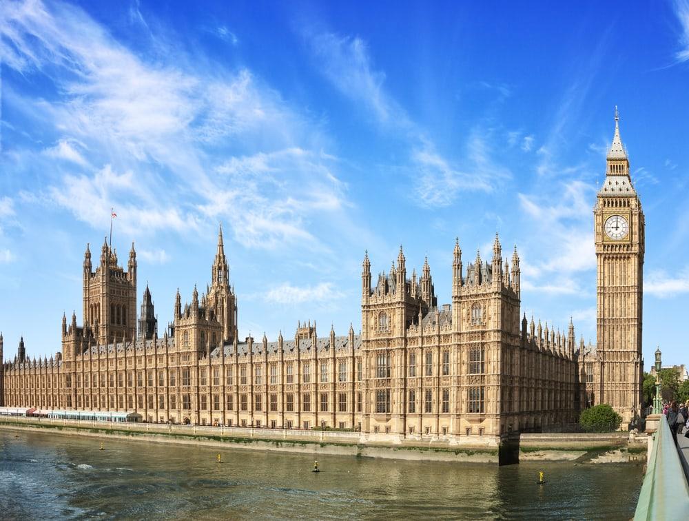 Palace of Westminster - London i England