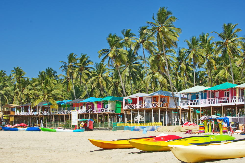 Palolem stranden - Goa i Indien