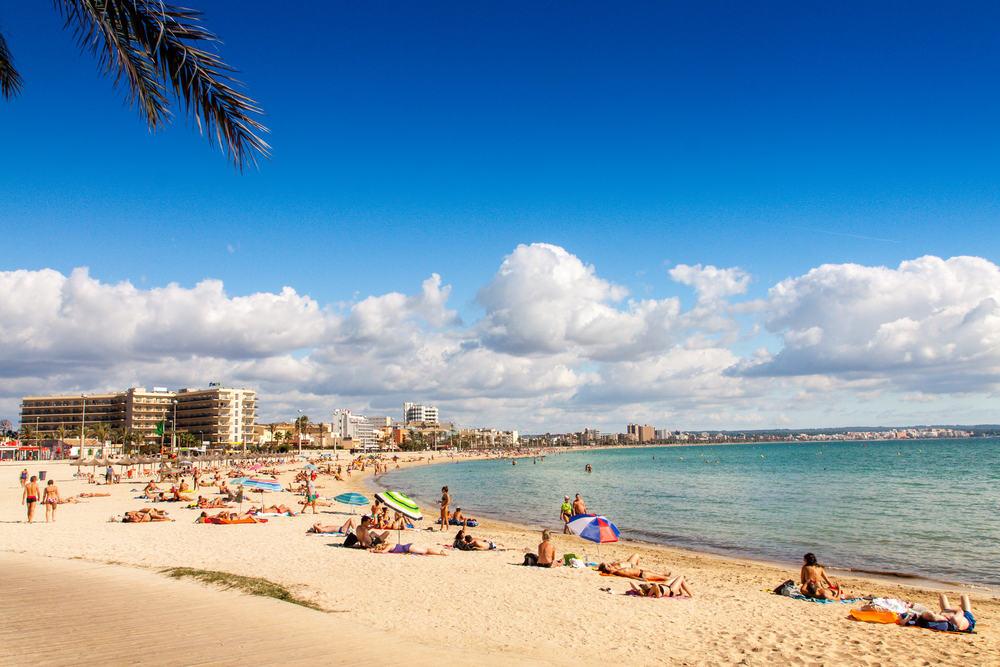 Platja de Palma stranden - Mallorca i Spanien