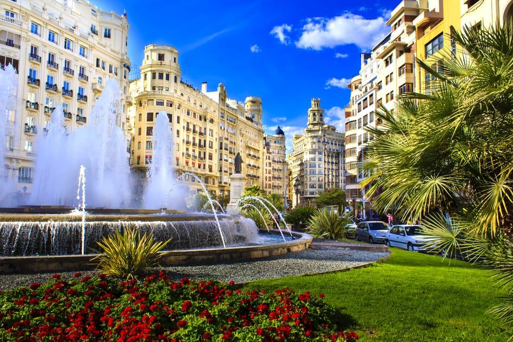 Plaza del Ayuntamiento - Valencia i Spanien