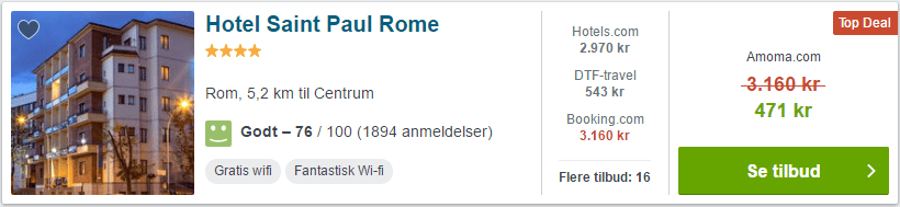 Hotel Saint Paul Rome - Rom i Italien