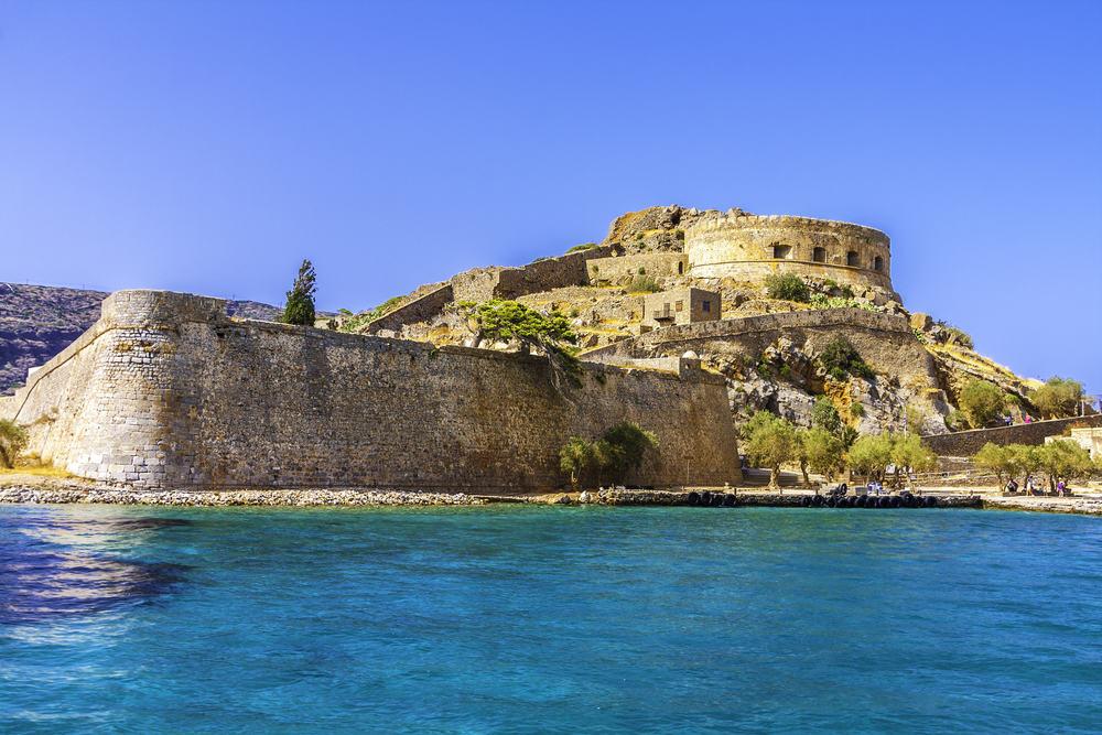 Spinalonga fortet - Kreta i Grækenland