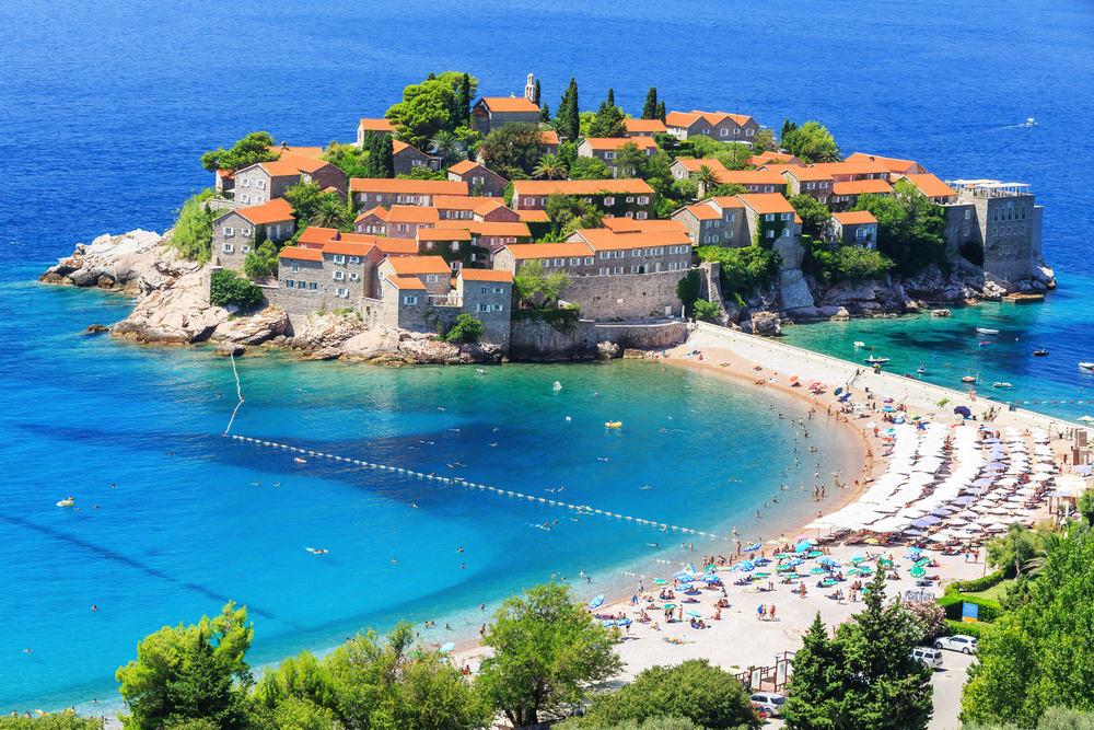 Sveti Stefan øen - Budva i Montenegro