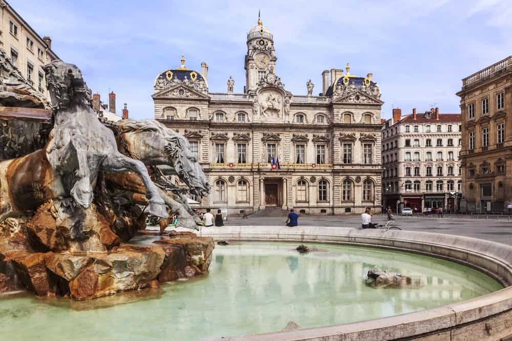 Terreaux pladsen - Lyon i Frankrig