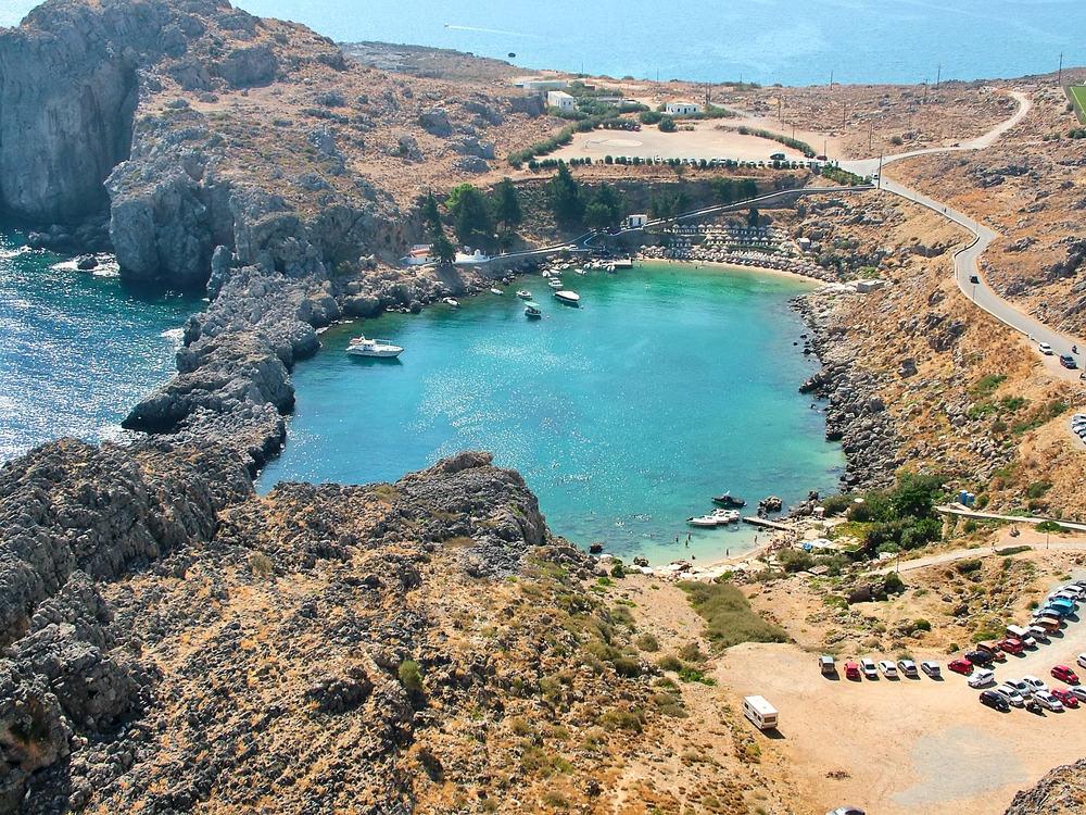 Agios Pavlos stranden - Rhodos i Grækenland