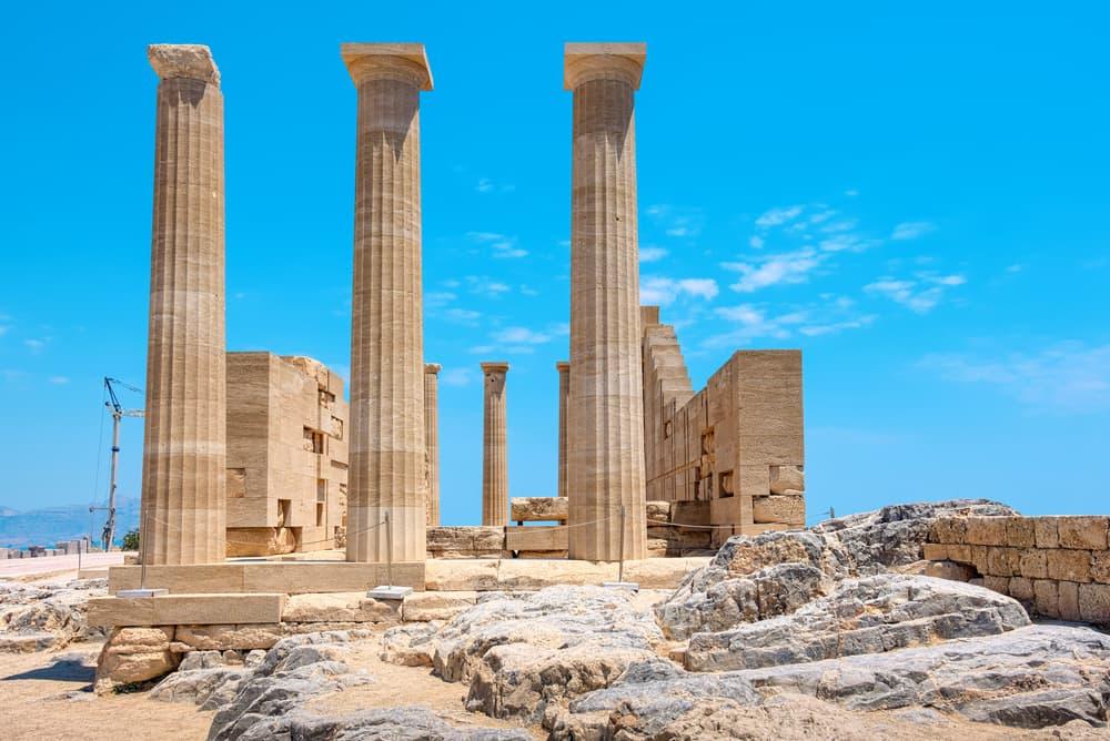 Athen Lindia - Akropolis på Rhodos - Grækenland