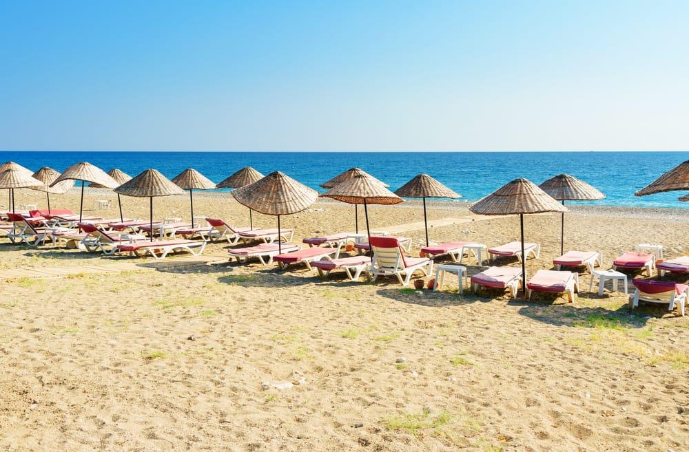 Cirali Olympos stranden - Antalya i Tyrkiet