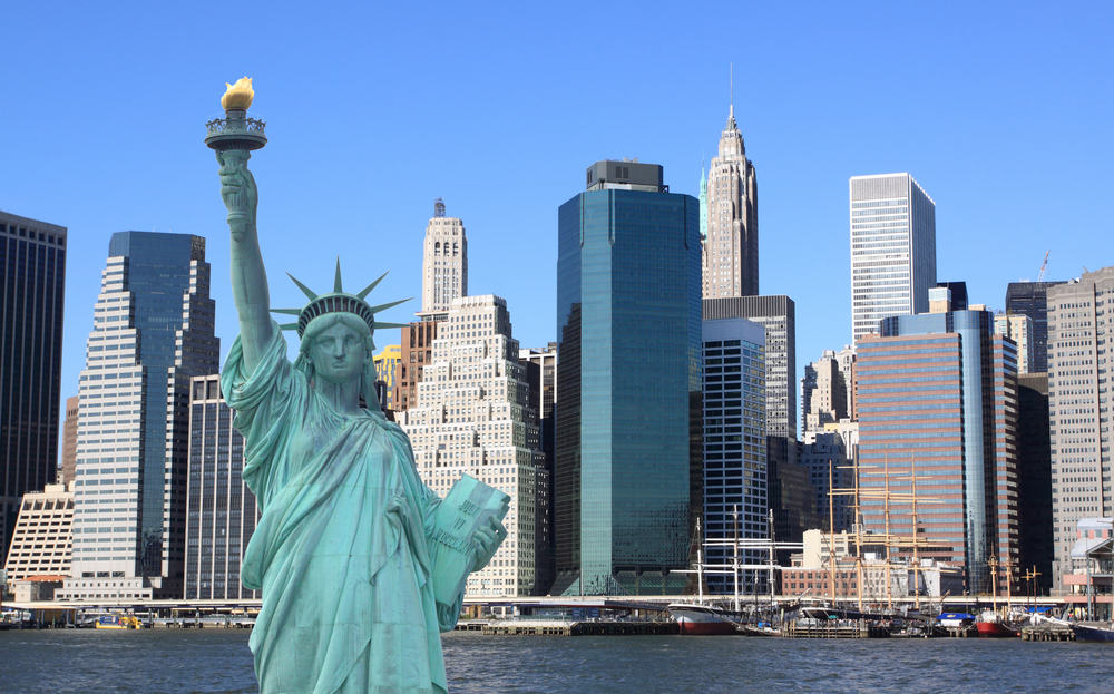 Frihedsgudinden - New York i USA