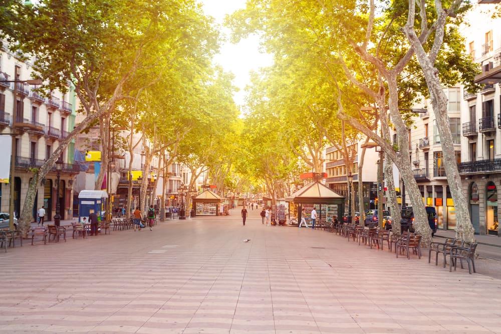 La Rambla - Barcelona i Spanien