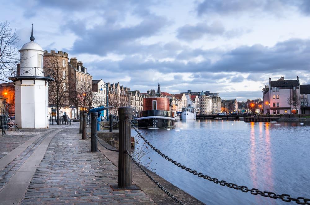 Leith Harbour - Edinburgh i Skotland