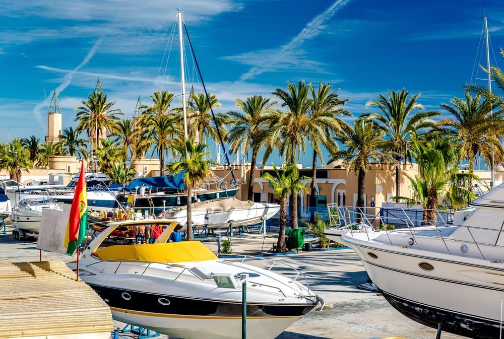 Marinaen i Fuengirola - Costa del Sol i Spanien