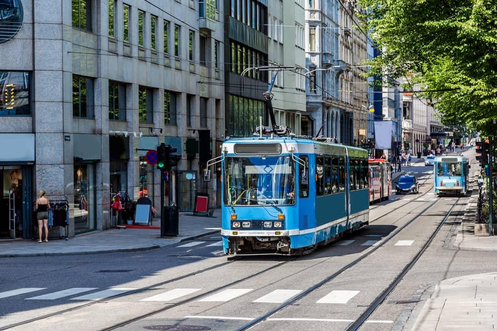Moderne sporvogn i Oslo - Norge