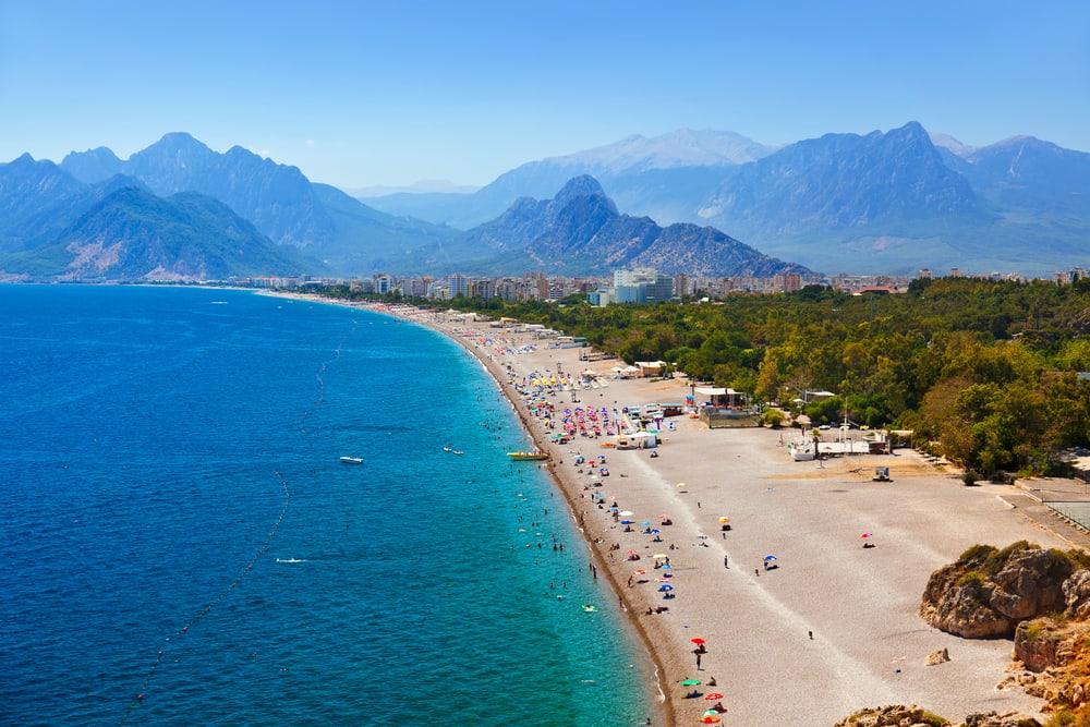 Strand i Antalya - Tyrkiet