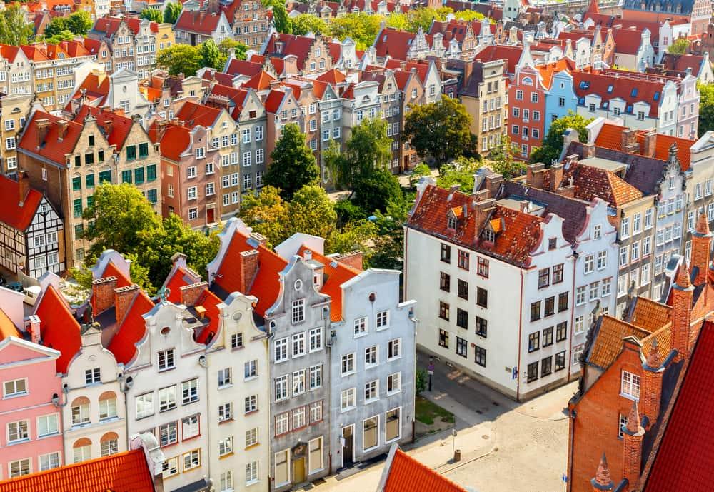 Udsigt over Gdansk i Polen