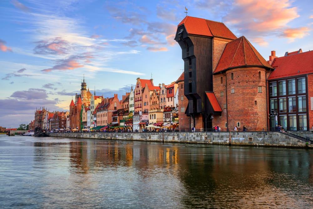 Zuraw kranen - Gdansk i Polen