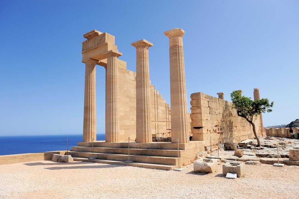Akropolis i Lindos - Rhodos i Grækenland