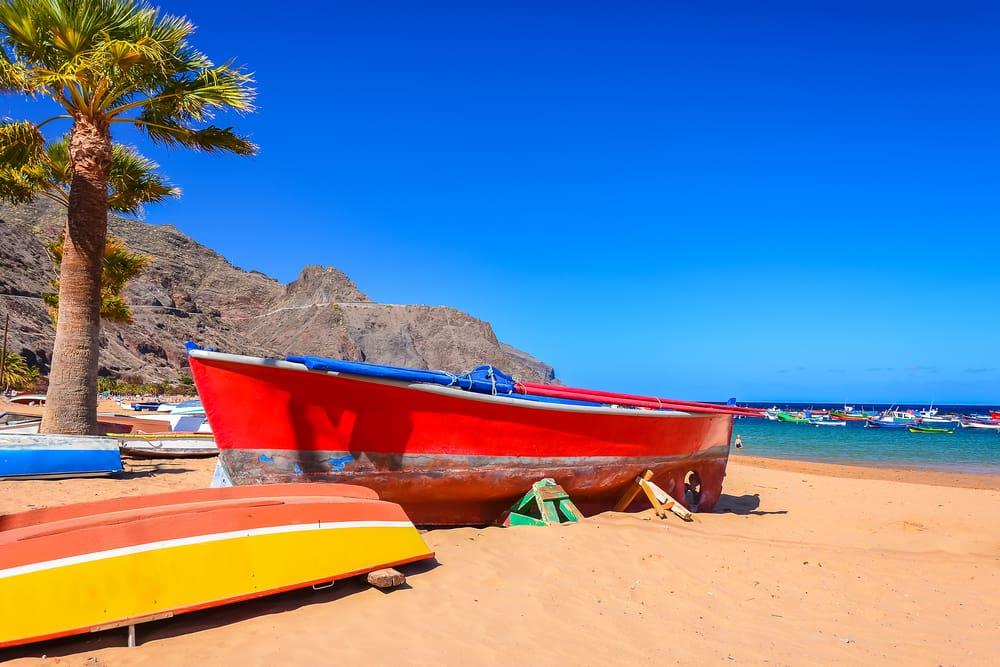 Playa de las Teresitas - Tenerife i Spanien