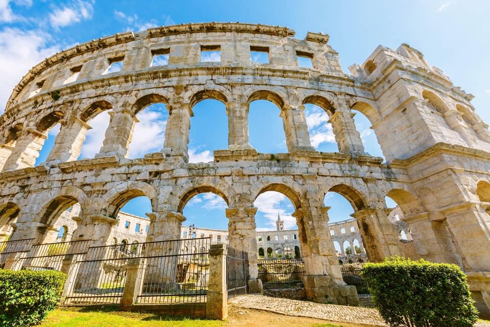 Romersk amfiteater - Pula i Kroatien