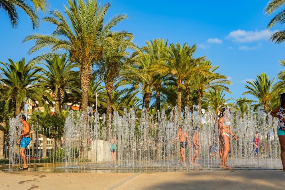 Springvand i Salou - Spanien