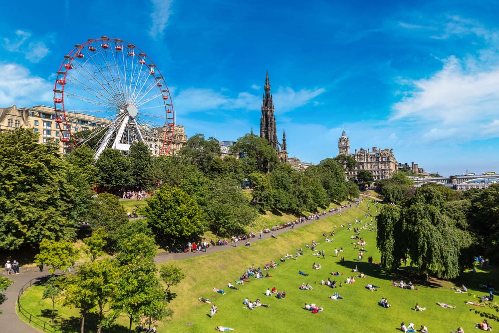 The Walter Scott Monument - Edinburgh i Skotland