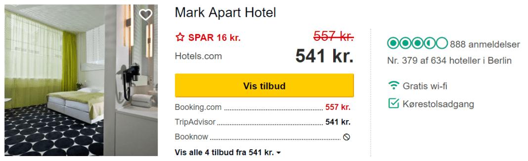 Mark Apart Hotel - Berlin i Tyskland