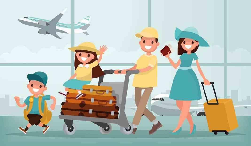 Børn med på flyveren