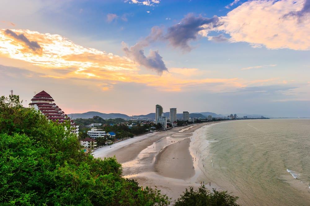 Solnedgang i Hua Hin - Thailand