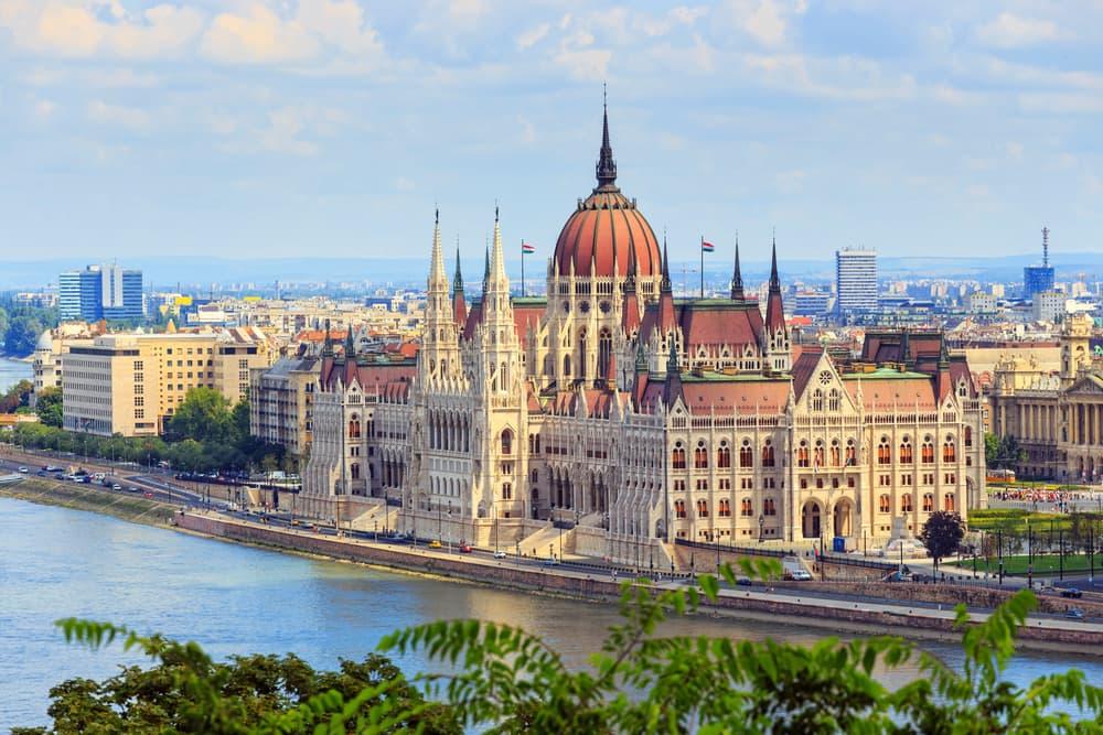 Det ungarnske parlament - Budapest i Ungarn