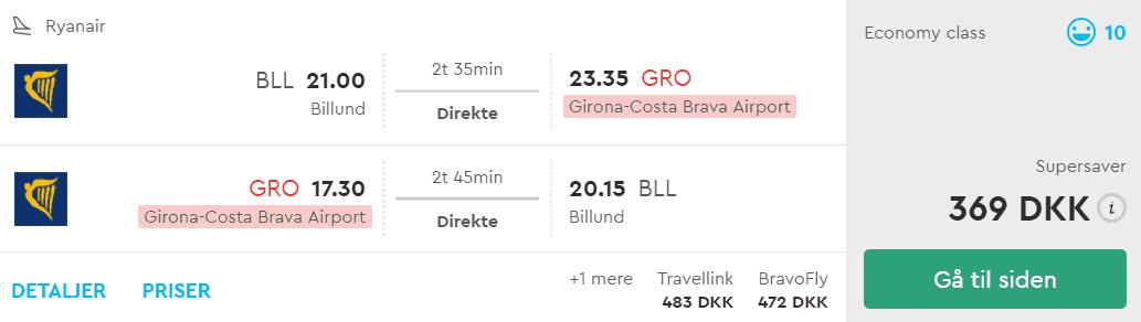 Billige flybilletter fra Billund til Barcelona