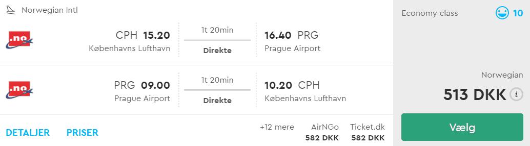 Billige flybilletter fra København til Prag