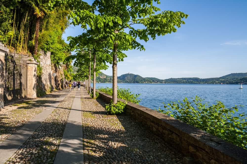 Orta-søen i Pietmont-regionen i Italien